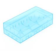 2 Pcs / Lot Caixa de armazenamento da bateria de plástico rígido para 18650