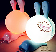Big Size Cartoon Rabbit Shape ABS LED Night Light(18 x 16 x 25 ,Random Color)