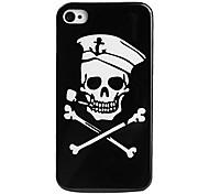 cráneo estilo pirata protectora para el iPhone 4 y 4S (negro)