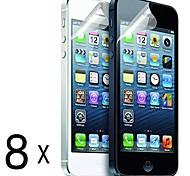 [8 Pack] Qualität Mattblendschutzfolien für iPhone 5/5S
