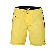Men's Polyester Yellow Blue Surf Beach Short