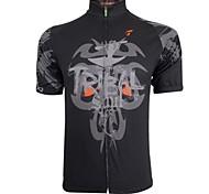 Getmoving Cycling Tops / Jerseys Men's Breathable / Quick Dry Short Sleeve Bike Spandex / Polyester Black S / M / L / XL / XXL / XXXL
