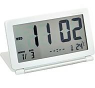 Timess ™ ultrafinos garra LED Digital Converte Termômetro Relógio Despertador