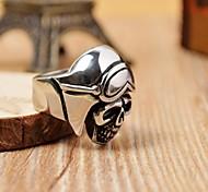 Men's Cast Metal Shiny Skull Stainless Steel Ring