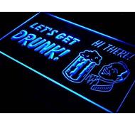 Let's Get Drunk Bar Pub Beer Neon Light Sign