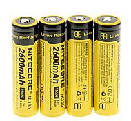 NITECORE NL186 2600mAh18650 Batterie (4 Stück)