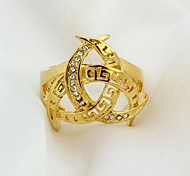 18KGlod 18K Plated Ring Health Ring Jewelry Nickel Free K Golden Plating Platinum Exquisite Golden Ring