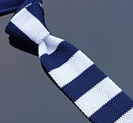 Classic Skinny Navy Bianco maglia Cravatte XINCLUBNA ® (come pic show) 1pcs