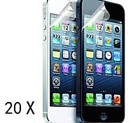 [20-Pack] Protections d'écran de haute qualité mat anti-reflets pour iPhone 5/5S