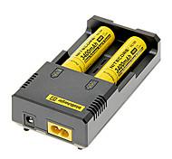 NITECORE NL189 3400mAh 18650 Batetry (2 piezas) + I2 NETCORE Cargador de batería para 18650/14500/16340 (para 2 baterías)
