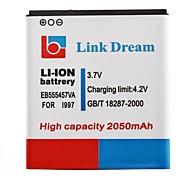 Ligação Sonho 3.7V 2050mAh Bateria de telefone celular para Samsung i997 EV555457VA Infuse 4G