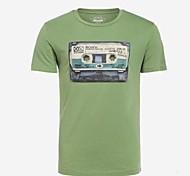Men's Round Neck Short Sleeve T-Shirt (Random Pattern)