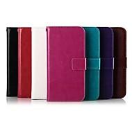 Solid Color PU-Ledertasche für HTC M8 Mini (verschiedene Farben)