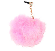 Rabbit Fur Bola 3,5 mm anti-poeira do fone de ouvido Jack para iPhone e iPad