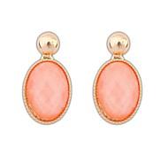 Frauen in Europa und Amerika Mode Drops Legierung Kunststoff Elegante Stud Ohrringe (weitere Farben) (1 Paar)