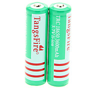 TangsFire TRC 3600mAh 18650 Battery(2pcs) with Overcharge Protection + 2 Pcs/Lot Hard Plastic Battery Storage Box