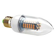 7W E26/E27 Luces LED en Vela C35 120 SMD 3528 630 lm Blanco Cálido AC 100-240 V