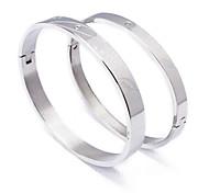 Fashion Kuss Form Paar Silber 316L Edelstahl-Diamant-Armband