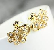 New Creative Little Swan Earrings Shine