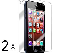 [2-Pack] Front and Back Retina Screen Protector for iPhone 5/5S