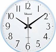 "Telesonic™ 13""H  Brief Style Narrow Border Mute Wall Clock"