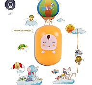 QiDu New Strange with Decorative Wall Stickers American Standard Plug Led Plug Small Night Light  (Yellow Doll)