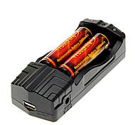 TrustFire 3000mAh 18650 (2pcs) + TrustFire TR-007 Carregador de Bateria + Bateria Caixa de armazenamento