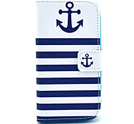 Striped Anchor Pattern Soft Case for Samsung Galaxy Core I8262