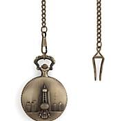Retro-Muster Oriental Pearl Metallic-Taschen-Uhr (1 St.)