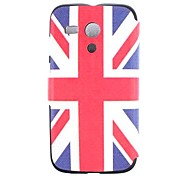 Custodia in pelle IKKI UK Flag modello PU w ​​/ Slot Card per Motorola MOTO G