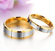 Costly Contracted Couples Titanium Steel Ring Restoring Ancient Ways