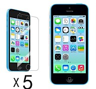[5-Pack] Ultra Clear LCD Protector de pantalla para iPhone 5C