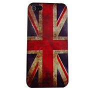 Retro Britse vlag Patroon PC Back Case voor de iPhone 5
