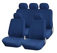 9 PCS Set Car Seat Covers macchiato Velvet Materiale Universale Fit Accessori auto