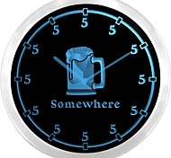 nc0700 Five O'clock Somewhere Neon Sign LED Wall Clock