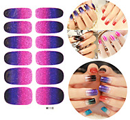28pcs Блеск Gradient Ramp Nail Art Наклейки M серии № 110