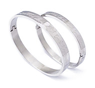 Fashion  Couple  Silvery Magic 316L Stainless Steel Bangle