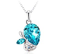 Women's Fashion Love Flowers Crystal Necklace Made with Swarovski Elements