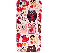 Bear Gift Heart Animal Cartoon Pattern Hard Case for iPhone 5/5S
