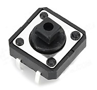 12 x 12 x 7.3mm Button Switches - Black (20 PCS)
