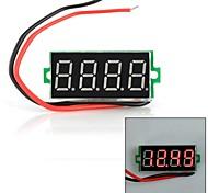 """Jtron 0.36"""" LED 4-Digit 2-Line Voltmeter Multimeter - Black (3.5~30V)"""