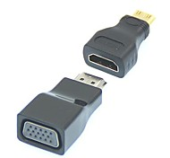 2 en 1 1080P Mini HDMI / HDMI vers VGA Video Converter Adapter
