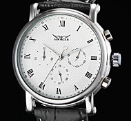 WINNER® Men's Auto-Mechanical 6 Pointers Black Leather Band Wrist Watch Cool Watch Unique Watch