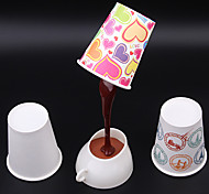 4PCS DIY Pouring Coffee Design White Light LED Table Lamp (USB/3xAAA)