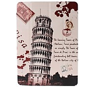 Leaning Tower of Pisa Postcard Pattern Full Body Leather and Plastic Hard Case with Stand for iPad Air