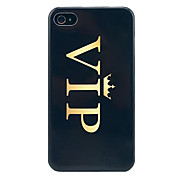 Crown Vip Glossy Hard Back Case for iPhone 4/4S