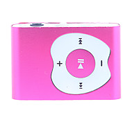 Apple Button Design Clip MP3 Player with TF Card Reader (Red)