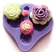 Quatre Fleurs en forme Cuire fandant moule, L7cm * W7.3cm * H1.3cm