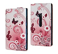 Flowers and Butterfly Pattern PU Leather Full Body Case for Nokia Lumia 920/N920