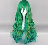 Косплэй парики Косплей Косплей Зеленый Длиные Аниме Косплэй парики 80 CM Термостойкое волокно Мужской